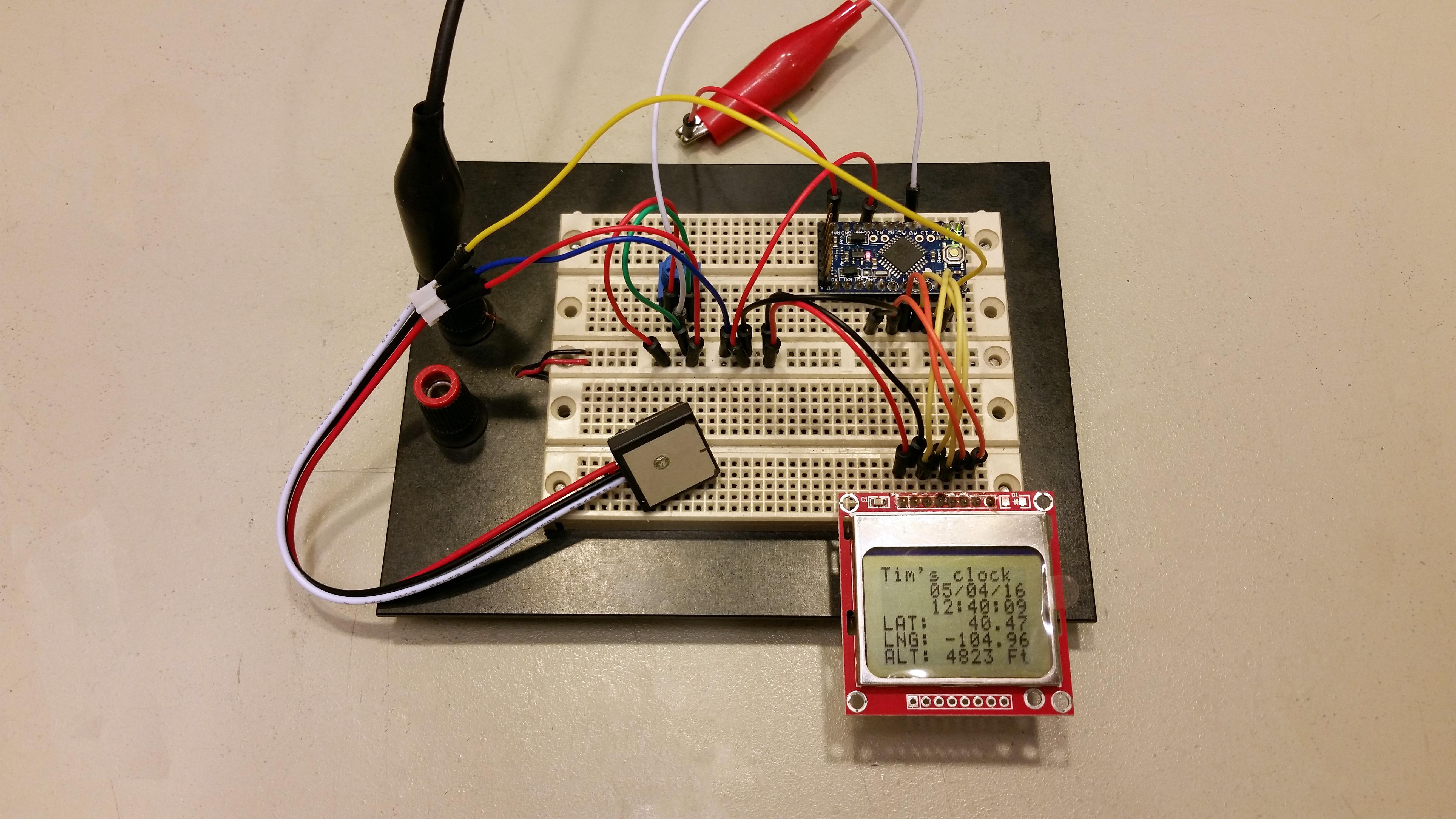 Nokia GPS clock